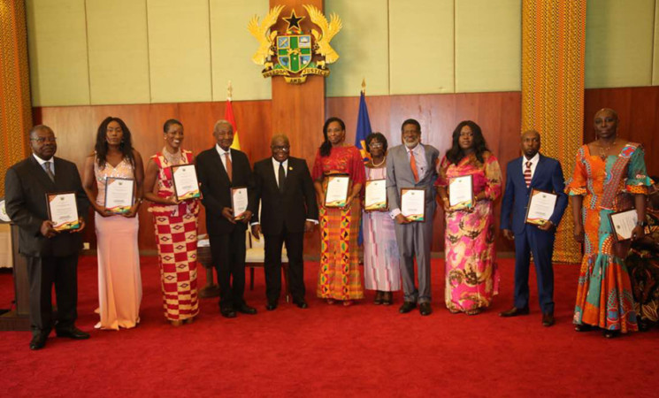 President Akufo-Addo Honours 10 Pioneer Ghanaian Foreign Service Officers